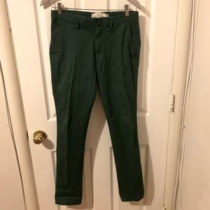 H&M label of graded goods forest green pants